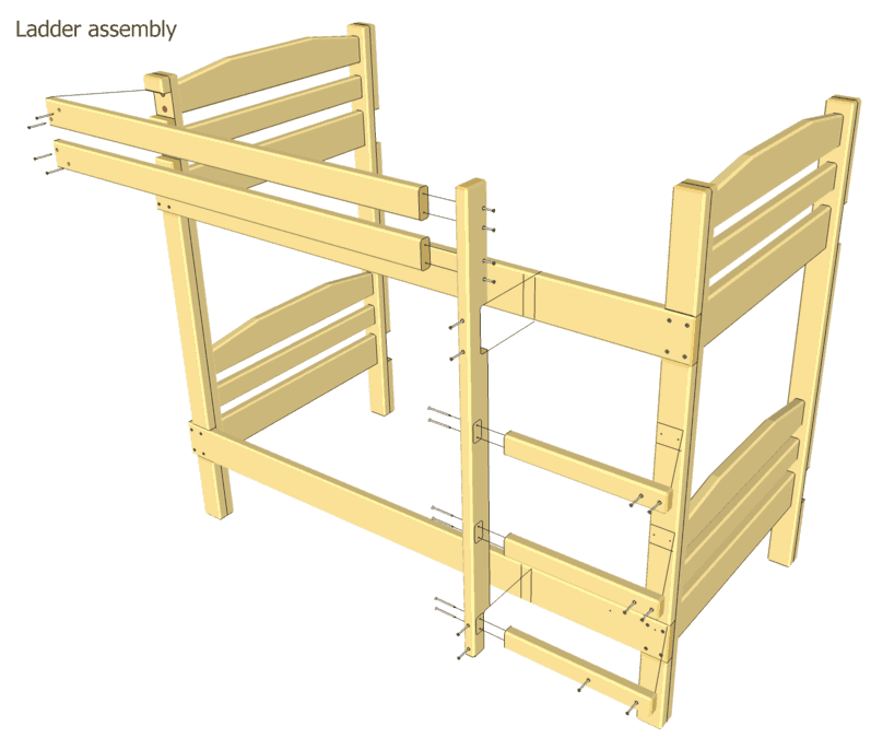 Bunk Bed Plans Except Will Use 4x4 Post Bunk Beds Diy Bunk Bed