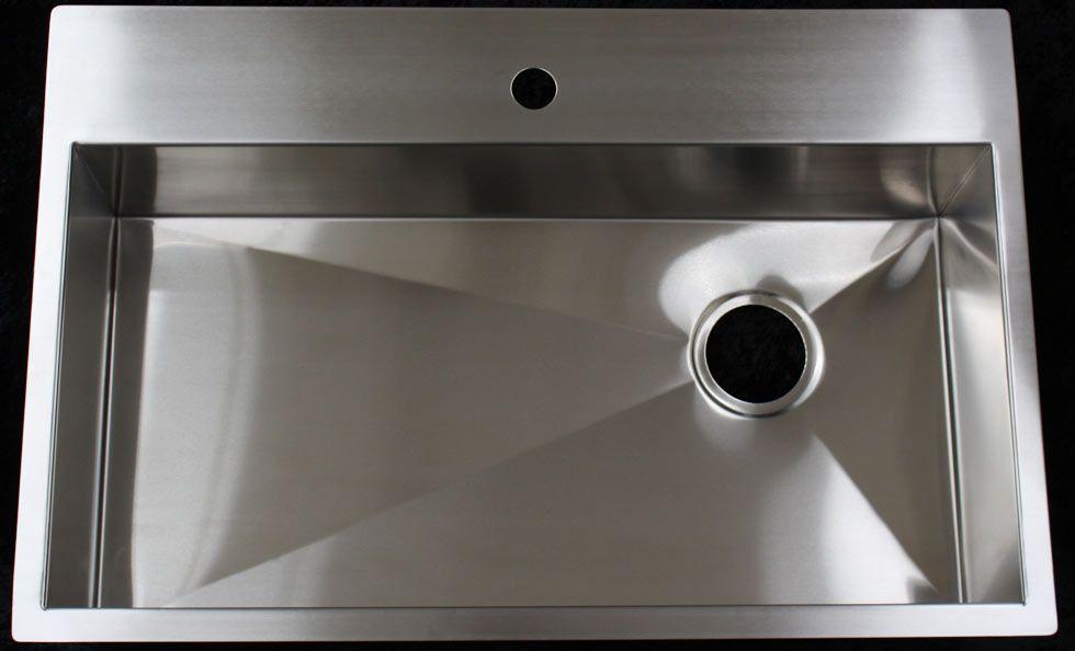 Rachiele Smart Sink 16 Gauge Stainless Steel Undermount Zero Radius Rear Corner Drain Kitchen Sink Sink Home Decor