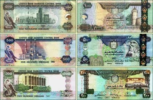 Money Names Of The World Dubai Currency Notes Front Back