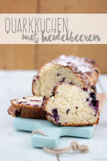 Quarkkuchen mit Heidelbeeren