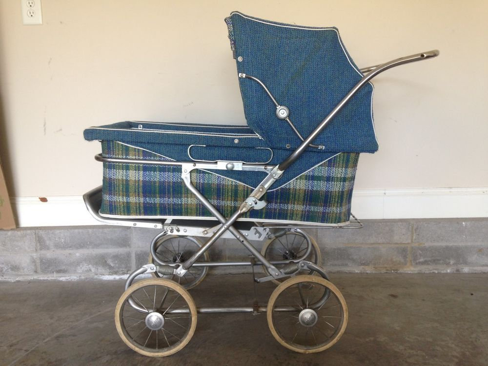 Stroller With Built In Bassinet Vintage Antique Thayer Baby Carriage Model 1242 Guc