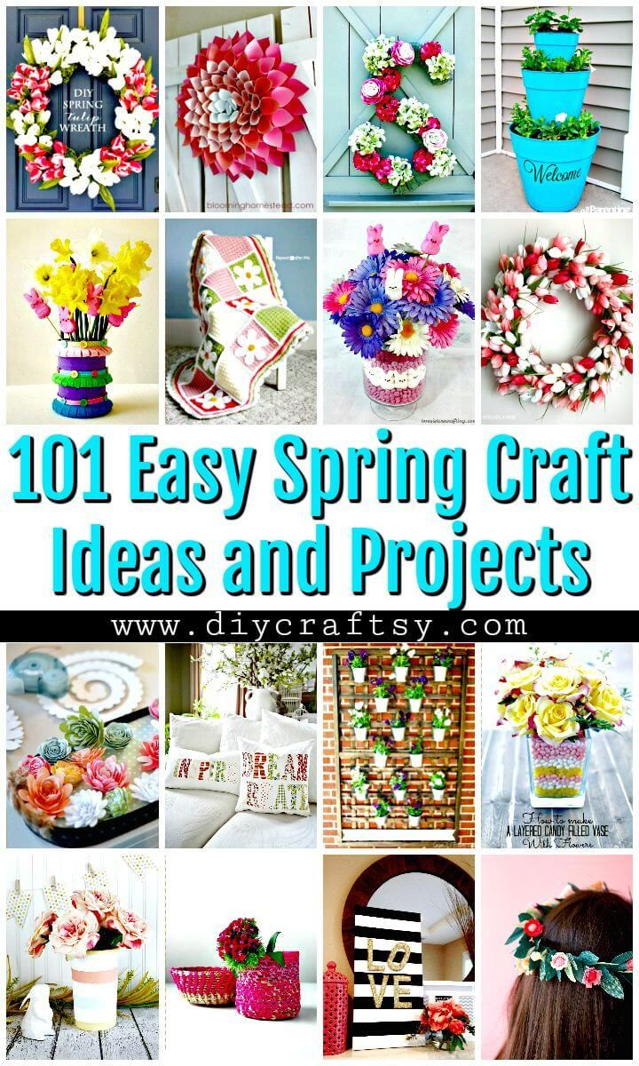101 Easy Diy Spring Craft Ideas And Projects Diy Crafts Diy Spring Crafts Spring Diy Spring Crafts
