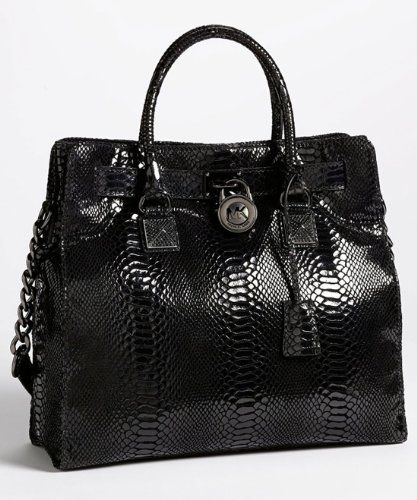 9169dd6064 Michael Kors Hamilton Jewel Women s Large Handbag Purse Black ...