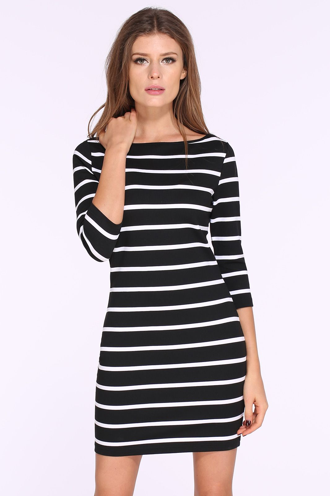 Black and white striped bodycon dress teens jewelry catalog new