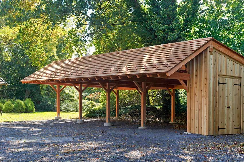 A carport built to protect the car and to add value to