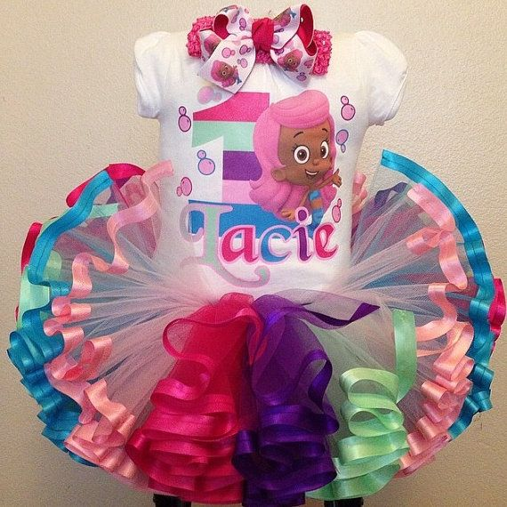 bubble guppies ribbon trimmed tutu and shirt set by tutookouture ...