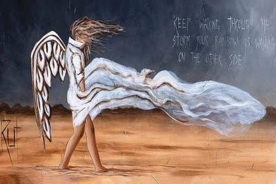 Keep Walking Through The Storm - Canvas Print