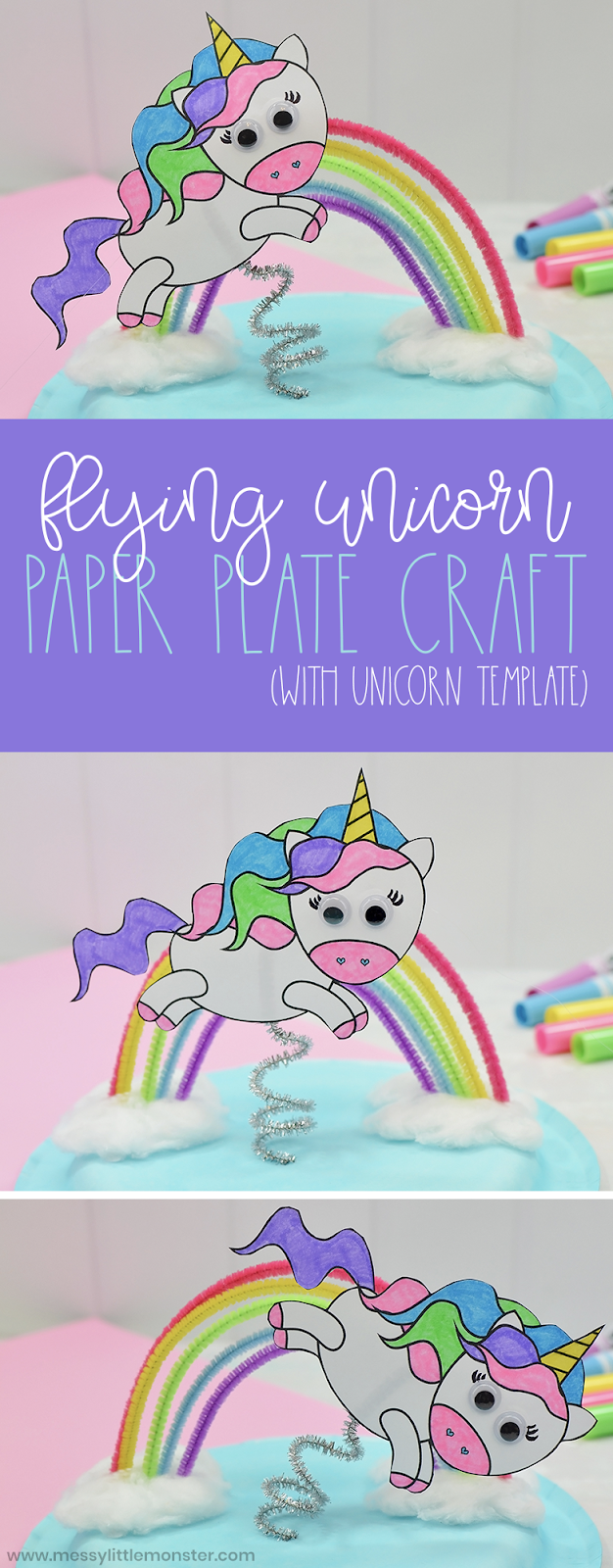 Flying Unicorn Paper Plate Craft  unicorn template included! is part of Unicorn paper plates, Paper plate crafts, Unicorn printables, Unicorn crafts, Plate crafts, Paper plate crafts for kids - Calling all little unicorn fans    you NEED this unicorn craft in your life! Unicorn fans will go NUTS over this super fun unicorn paper plate craft  And to make it even easier for you, we've included a free printable unicorn template  Just scroll down below to make your own paper plate unicorn craft!