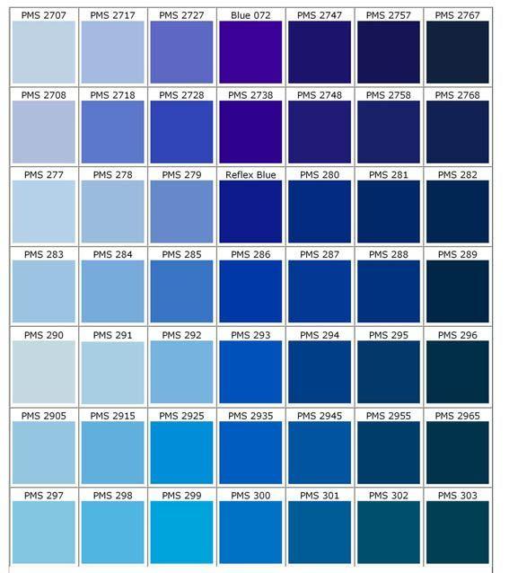 gama de azules 1 colores pinterest gama de azules