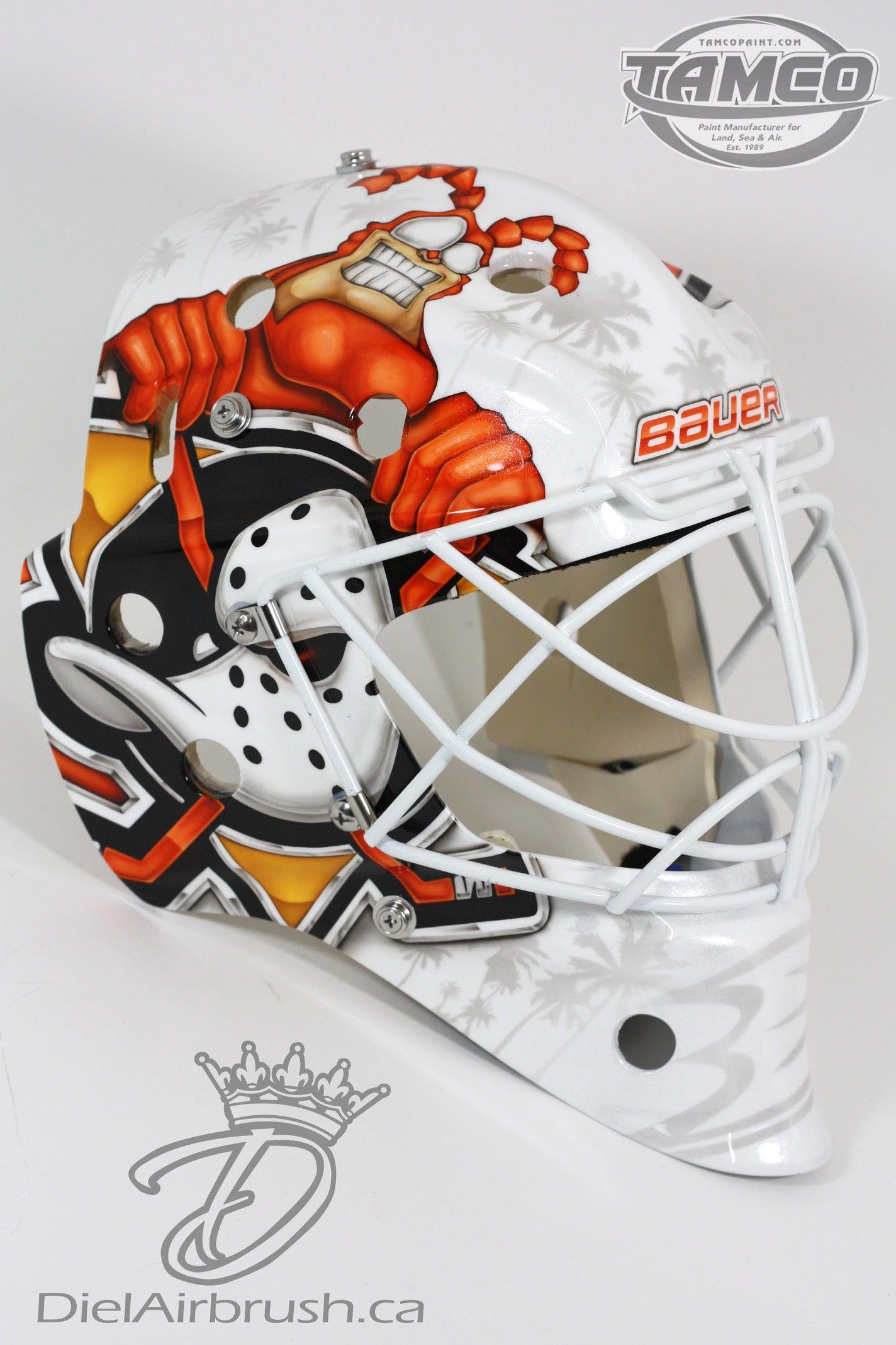 The Tick Hits The Surf On Dustin Tokarski S New Mask Goalie Mask Hockey Mask Mask