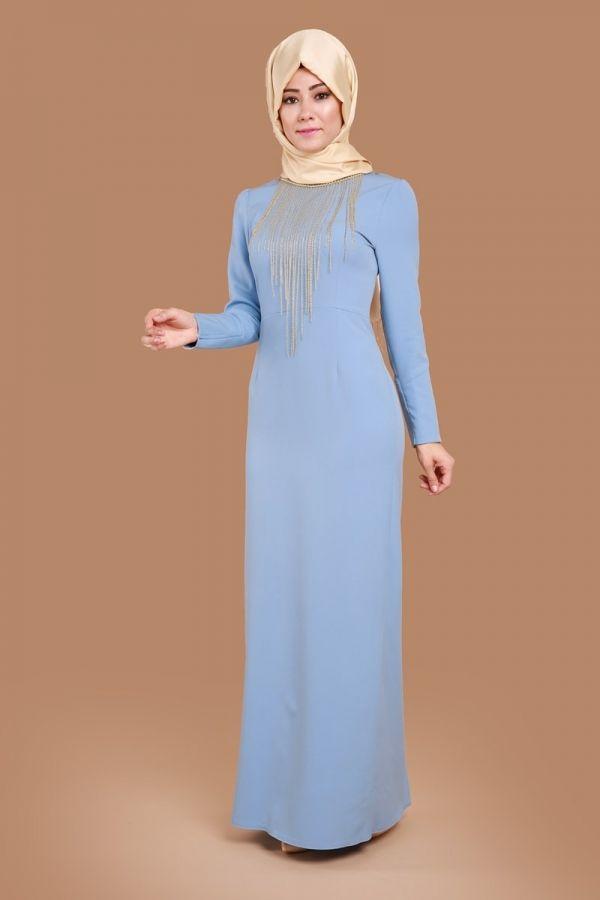 Kolyeli Kalem Abiye Elbise Buz Mavi Urun Kodu Ygs5073 109 90 Tl Elbiseler The Dress Elbise