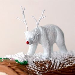 Reindeer Games - toy figurines of some of our favorite animals get a Rudolph-inspired makeover.