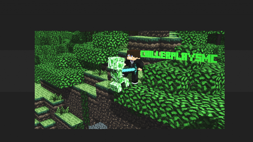 Minecraft Youtube Channel Art 2048 Pixels Wide And 1152