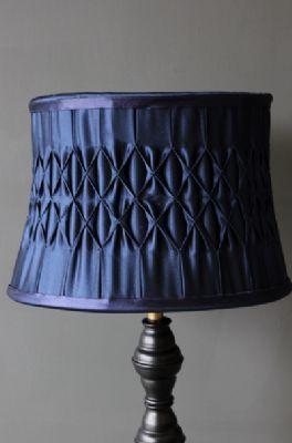 Satin Pleated Lampshade Navy Blue Rockett St George Lampshade Designs Beautiful Lamp Lamp Shade