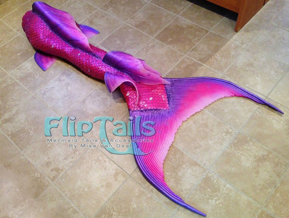Pink & Purple Silicon Mermaid Tail.