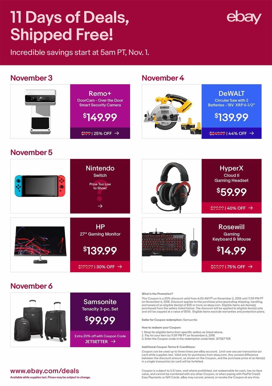 Ebay 11 Days Of Deals 2018 Ads Scan Deals And Sales See The Ebay 11 Days Of Deals Ad 2018 At 101blackfriday Com Find The Best 2018 Ebay 11 Days Ebay Day Ads