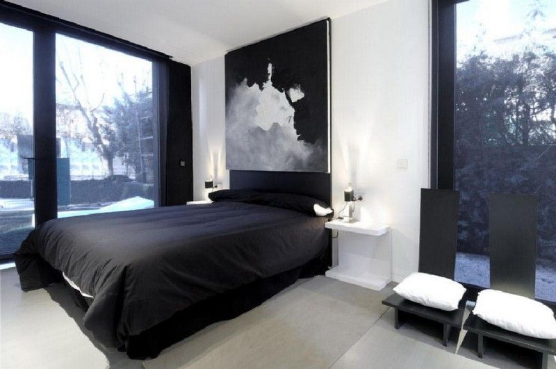Modern Mens Bedroom With Interior Design White Wall Small