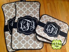 Car Mats Quatrefoil Personalized Monogrammed by LittleBitSassy
