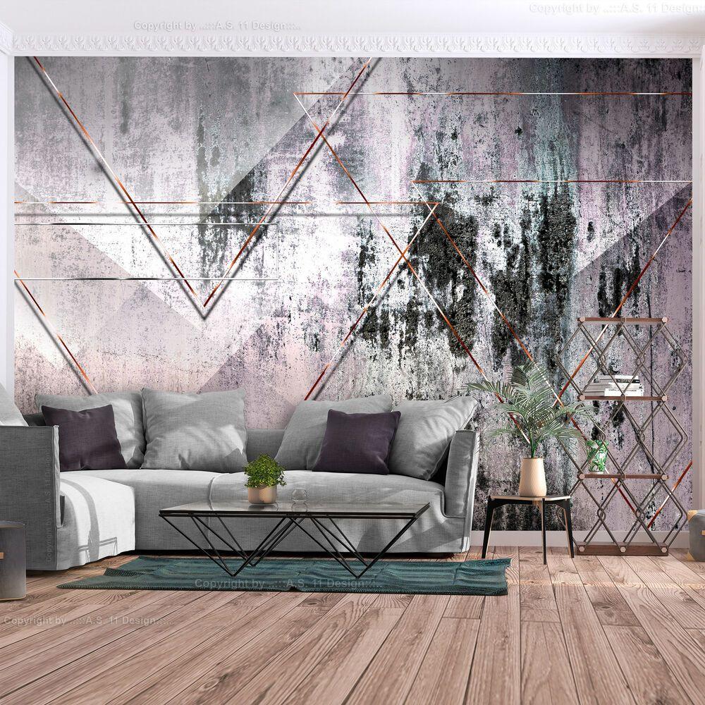 VLIES FOTOTAPETE grau Beton Stein rosa TAPETE modern Wohnzimmer