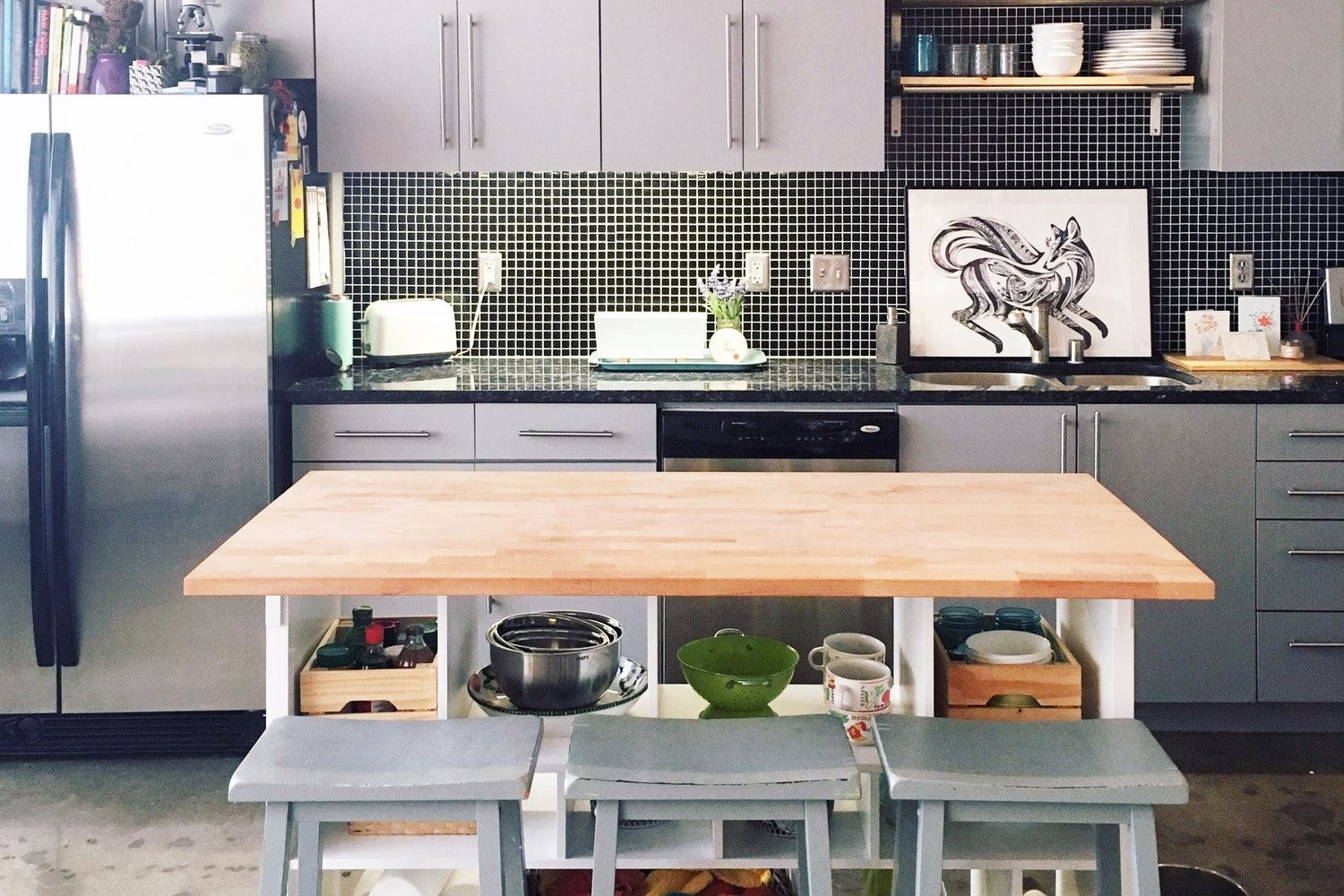 this under 200 way to double your kitchen storage comes from ikea kitchen island ikea hack on kitchen island ideas diy ikea hacks id=57508