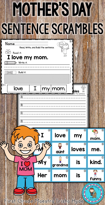 Mother S Day Sentence Scrambles