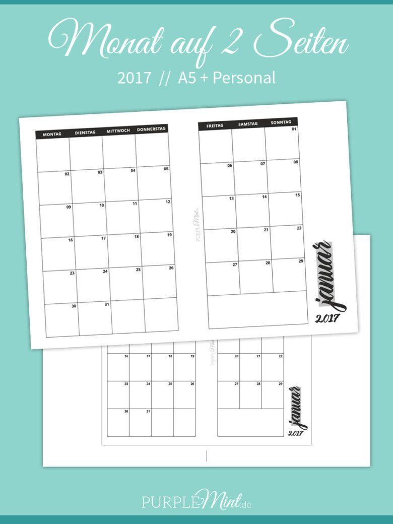 mo2p monats bersicht 2017 a5 personal freebie filofax a5 and free printable. Black Bedroom Furniture Sets. Home Design Ideas