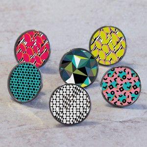 Geometric Pattern Cupboard Cabinet Knobs. Colourful geometric ...