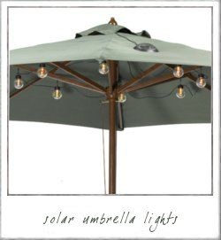 Solar Umbrella Clip Lights Extraordinary Lights In Patio Umbrellalooks Lovely At Night   Unbrella's Decorating Inspiration