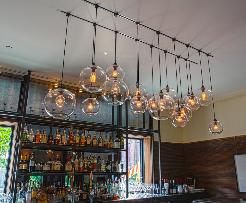 Home bar lighting - Modern Bulbs Monorail Track Lighting 2014 Monorail Track Lighting With Pendant Ceiling Mini Pendant Bar Lights Home