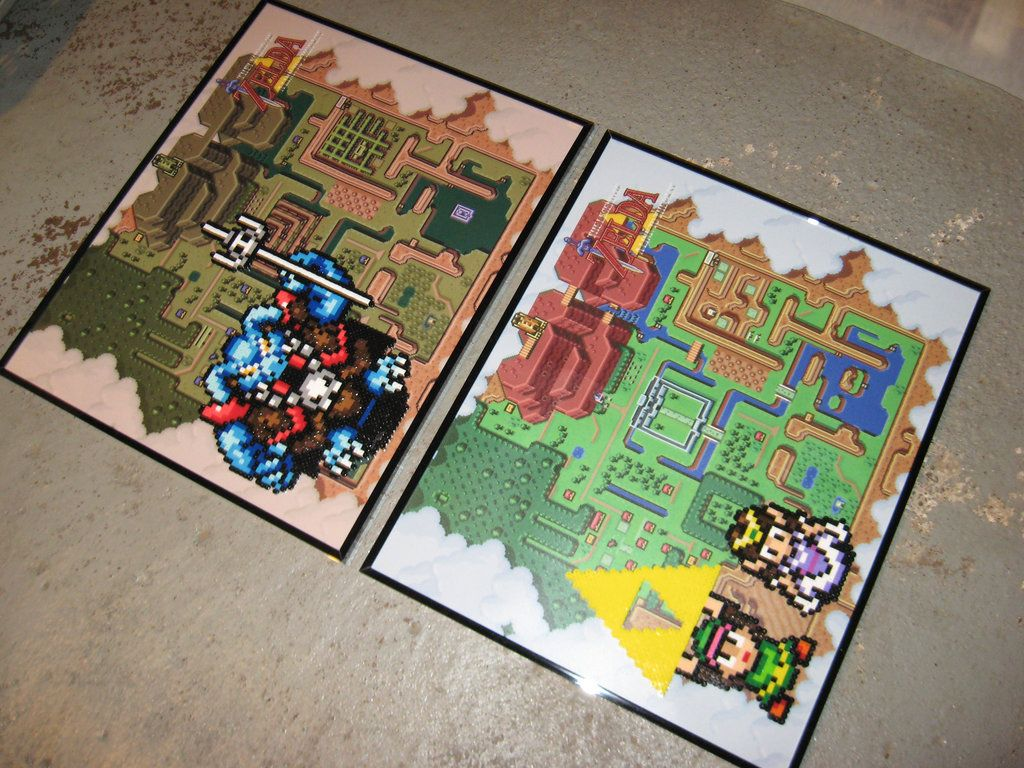 The Light And Dark World Maps From Zelda Link To The Past Snes Gannon Link Holding The Triforce And Zelda Are Done W World Map Light In The Dark Triforce
