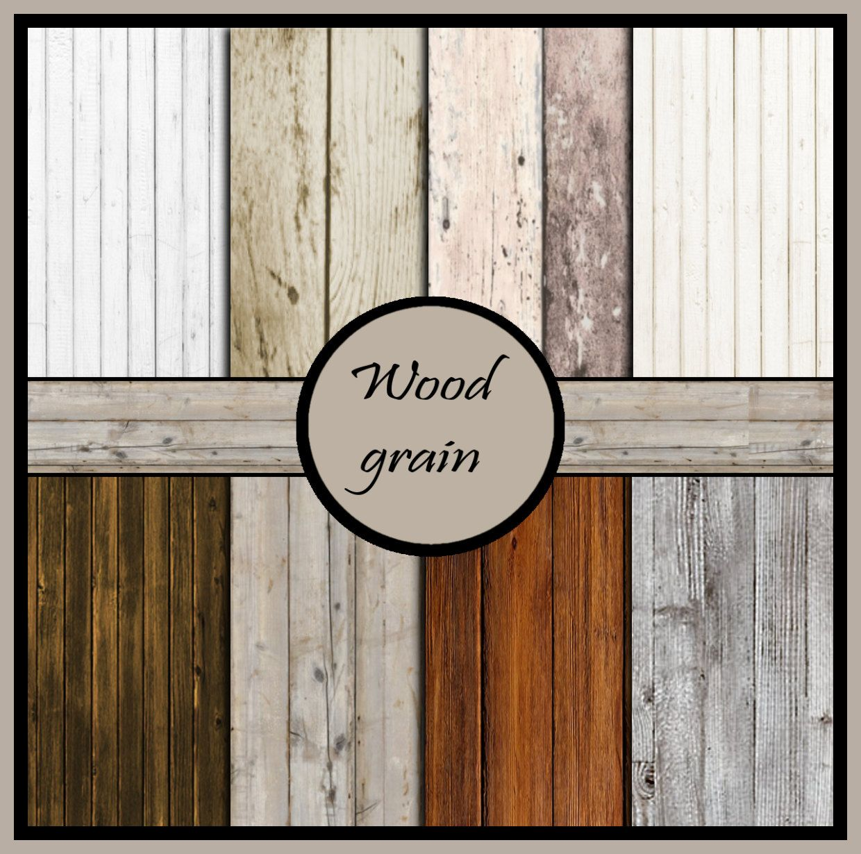 Scrapbook paper wood grain - Wood Grain Digital Scrapbook Paper Pack Digital Paper Paper Pack Digital Download Digital Scrapbook Scrapbooking Wood