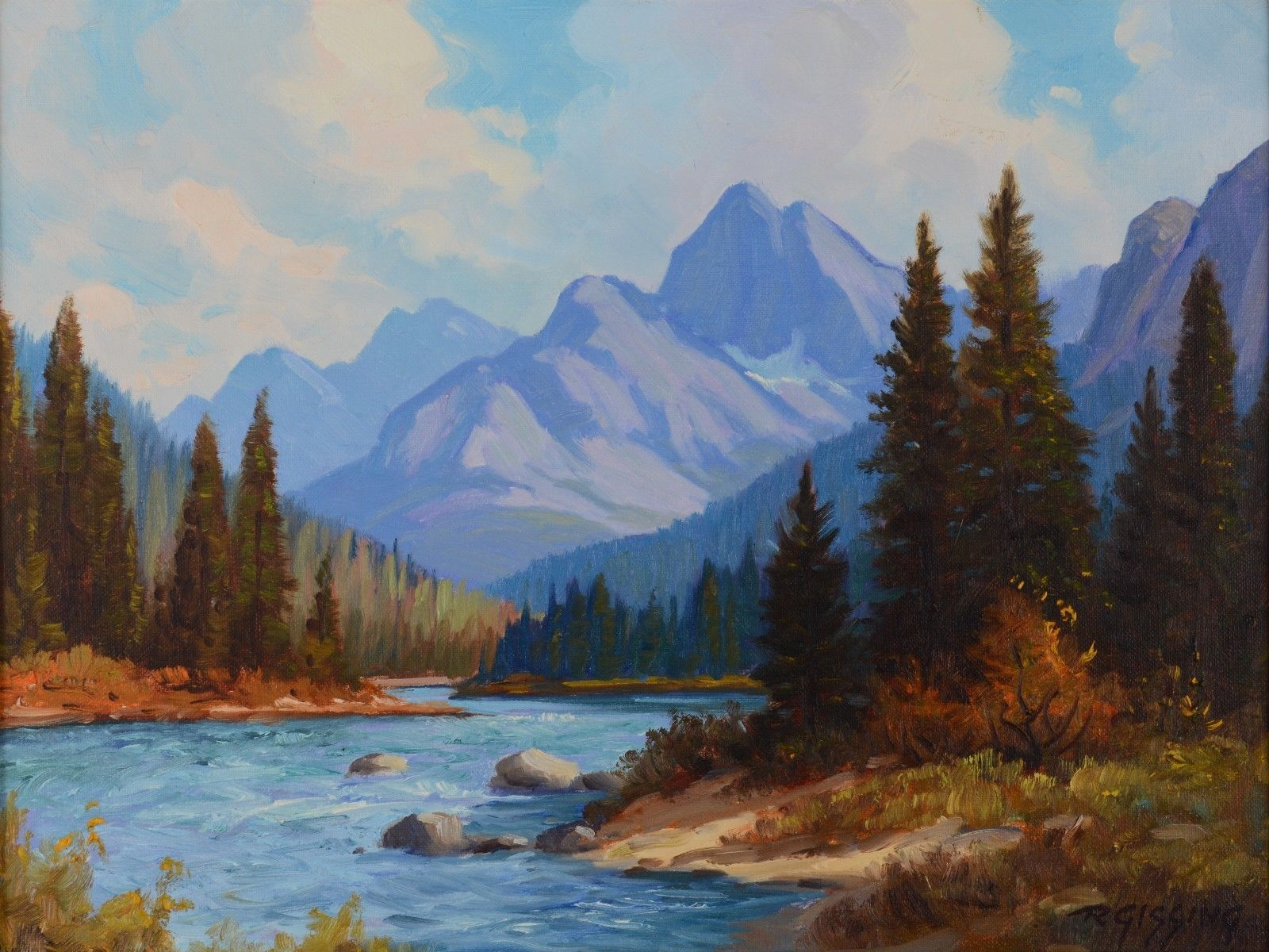 Details About Roland Gissing 1895 1967 Asa Oil Painting Mountain Lake Landscape Canadian In 2020 Mountain Landscape Painting Mountain Paintings Landscape Oil Paintings Mountain