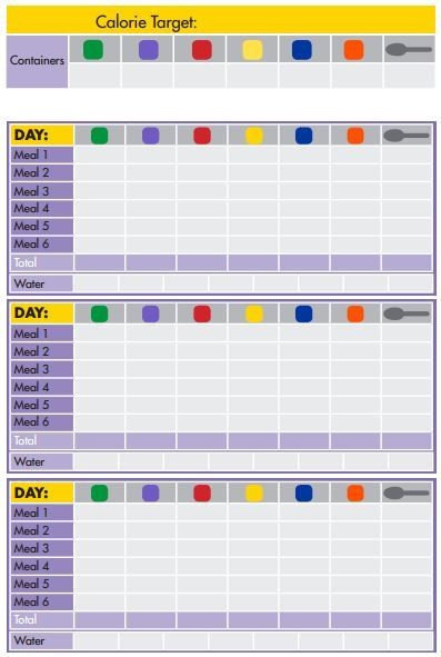 daily tracker 21 Day Fix Pinterest - fitness plan template