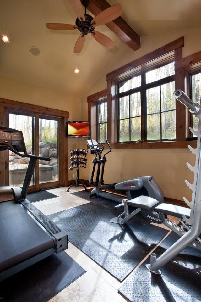 63 ideen zum heim fitnessstudio planen und einrichten. Black Bedroom Furniture Sets. Home Design Ideas