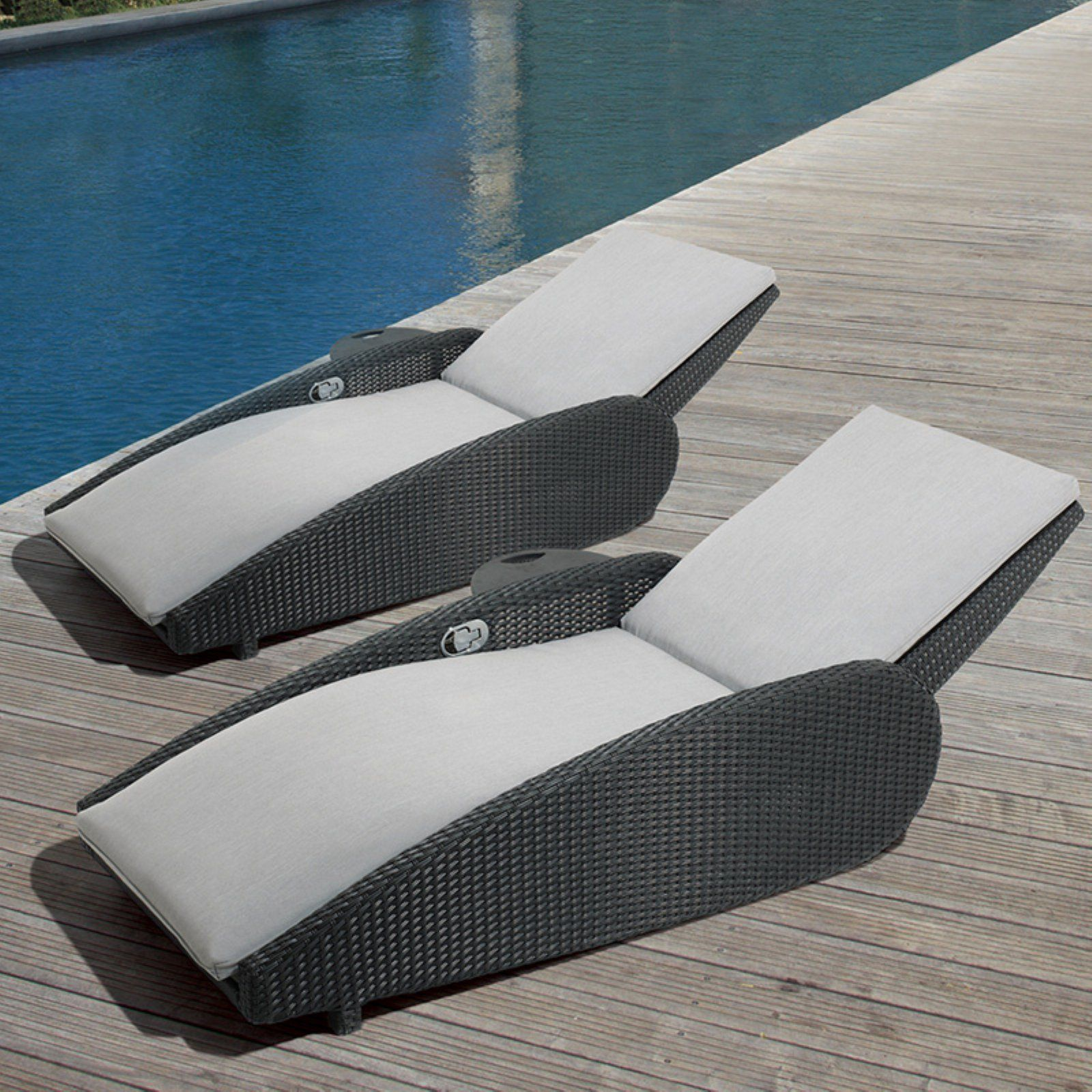 Amazing Ove Decors Sevilla Gray Outdoor Chaise Lounge Chair Set Of Dailytribune Chair Design For Home Dailytribuneorg