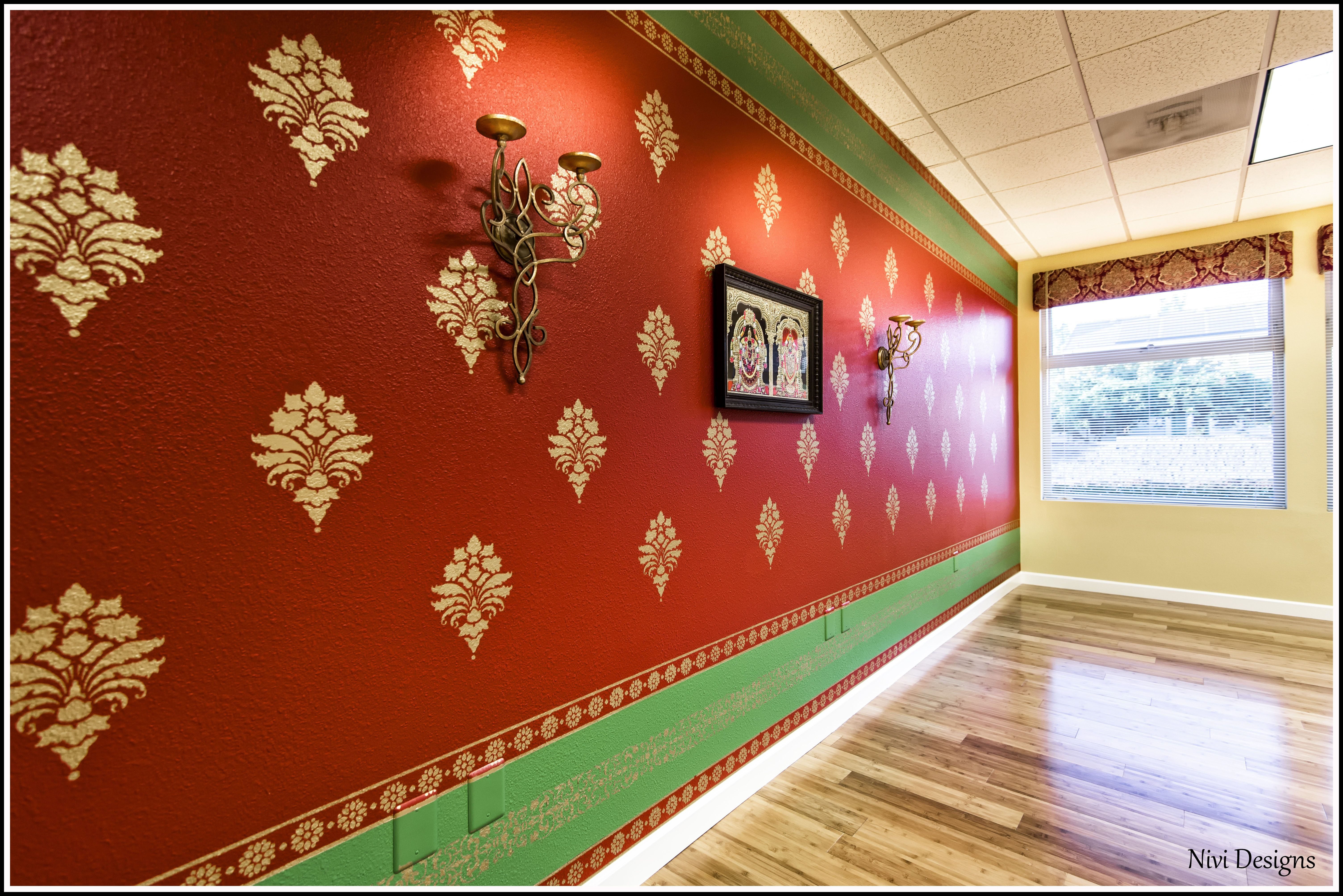 Bamboo wall stencil image collections home wall decoration ideas saree wall traditional south indian saree design candle sconces saree wall traditional south indian saree design amipublicfo Image collections