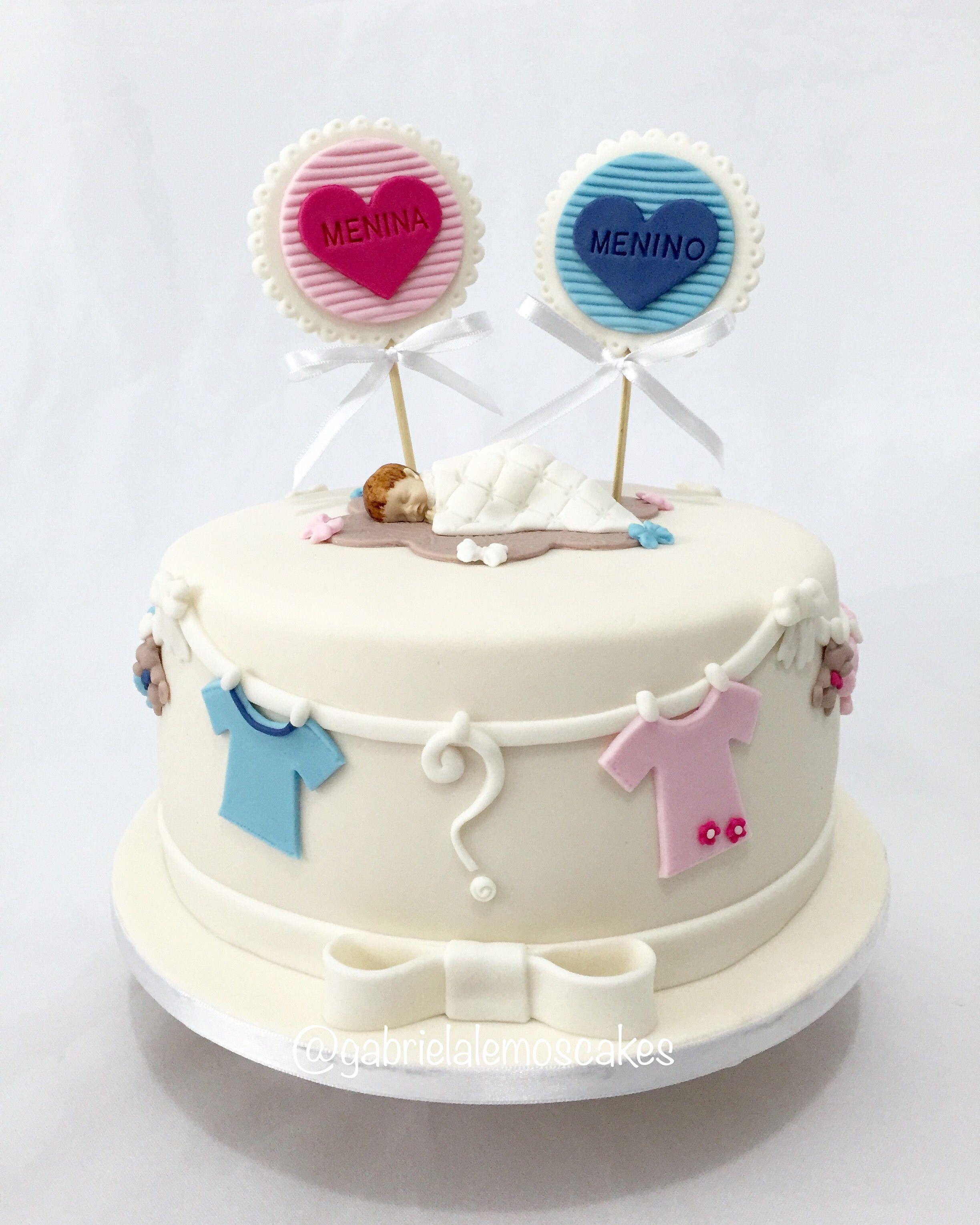 Revelation Cake Bolo revelao Girl or Boy gabrielalemoscakes
