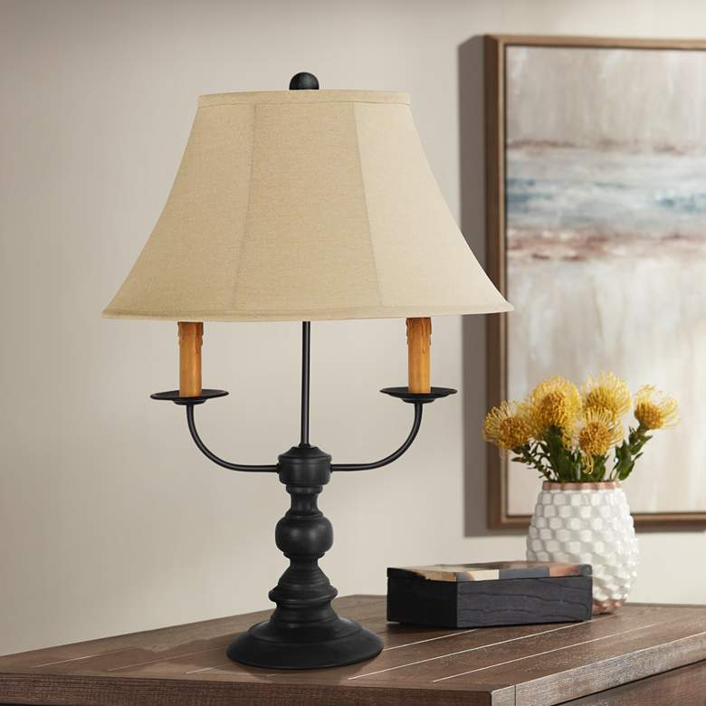 Bayfield Black Candelabra Arm 3 Light Table Lamp 24r66 Lamps Plus In 2020 Table Lamp Black Candelabra Farmhouse Table Lamps