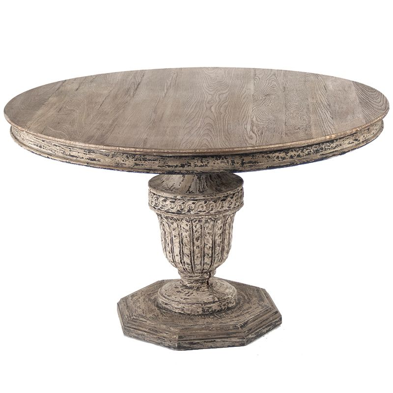 French Urn Pedestal Table Dining Table Round Wooden Dining