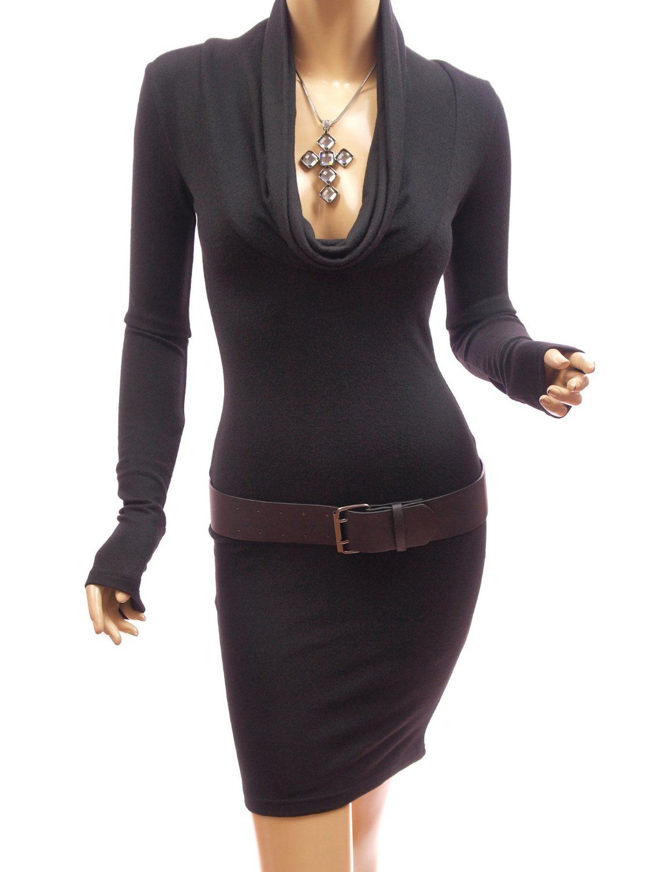 http://thecuteclothesforwomen.com/patty-women-sexy-drape-cowl-neck-long-sleeve-party-knit-dress-review/  Patty Women Sexy Drape Cowl Neck Long Sleeve Party Knit Dress