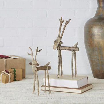 Driftwood Reindeer Decor (Set of 2)