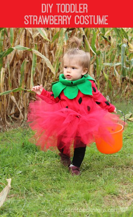 152ab0fd0 DIY Toddler Strawberry Halloween Costume | Spot of Tea Designs Posts ...