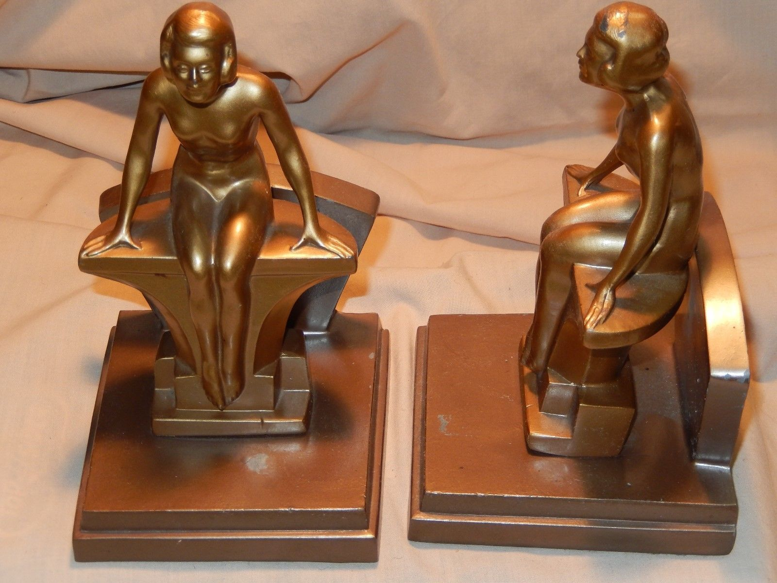 Nuart FRANKART Ronson Style Art Deco Period Nude Bookends Pair | eBay