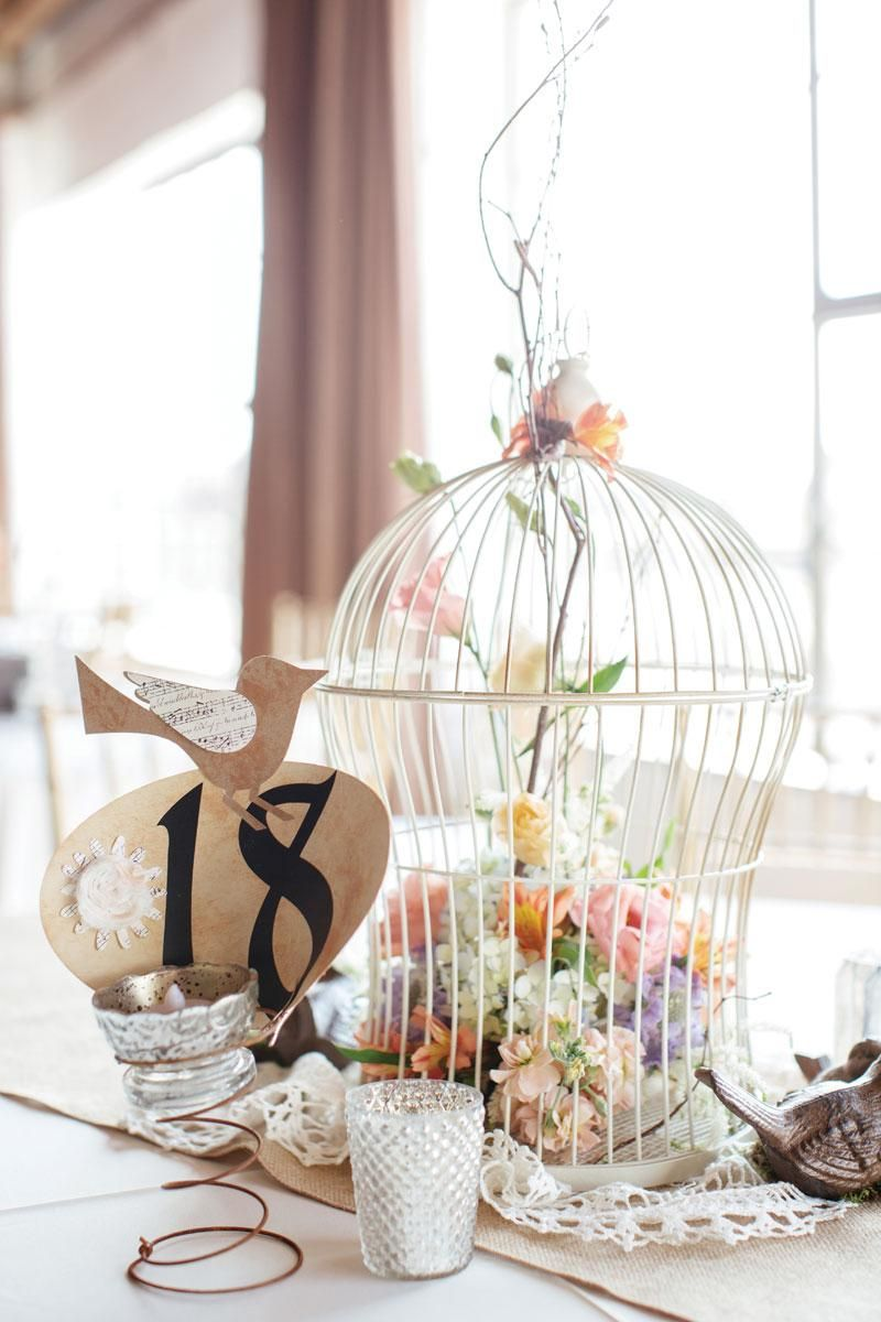Modern Love Birds Themed Wedding Vignette - The Wedding Ideas ...