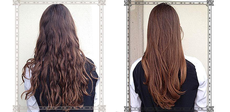 Vorher Nachher Bilder vom Hair Glossing