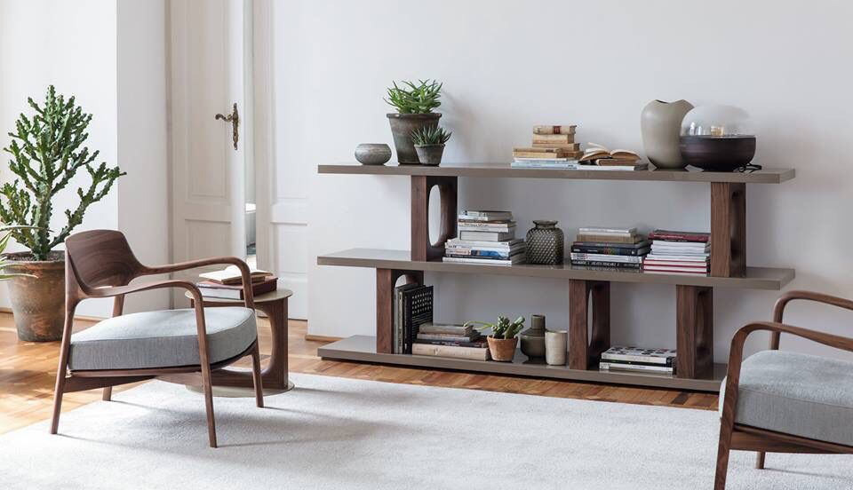 Dalida Bookcase And Louis Armchair By Porada