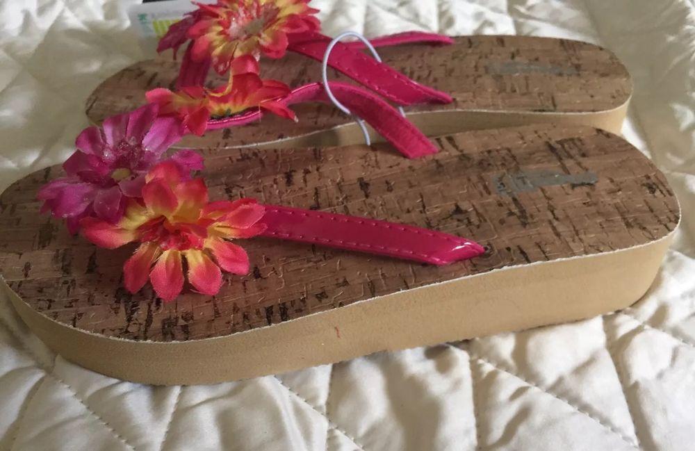 Capelli New York Girls Sandal Size 12 Kids Flip Flop Cork -9083