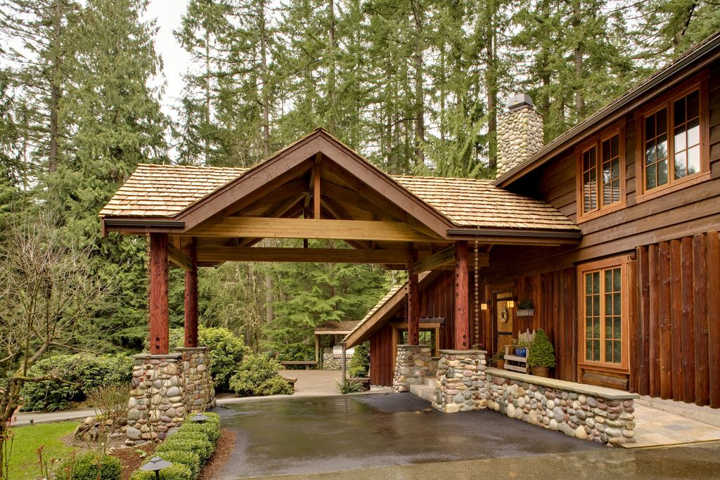 Lodge foyer side view in 2020 Carport designs, House
