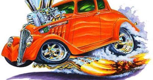 Willys Muscle Car Art Cartoon Tshirt Free Muscle Cars