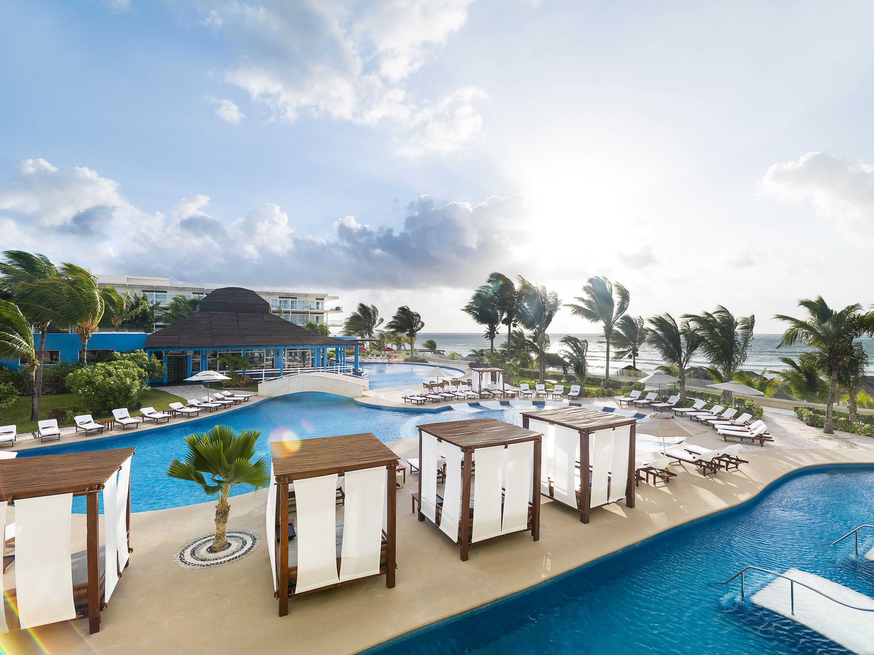 The Swimming Pool At Azul Beach Resort Riviera Cancun An All Inclusive Family Friendly In Maya Mexico With Gourmet Cuisine